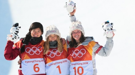 Chloe Kim reigns in Olympic halfpipe