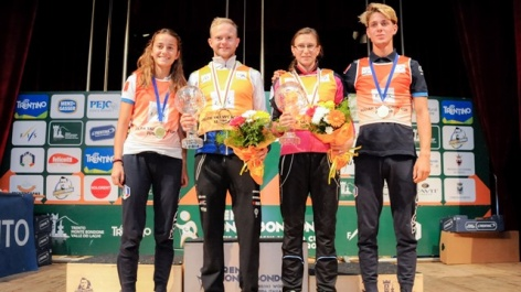 FIS Roller Skiing crystal globes for Norum and Prochazkova