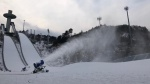 Snow production started in PyeongChang